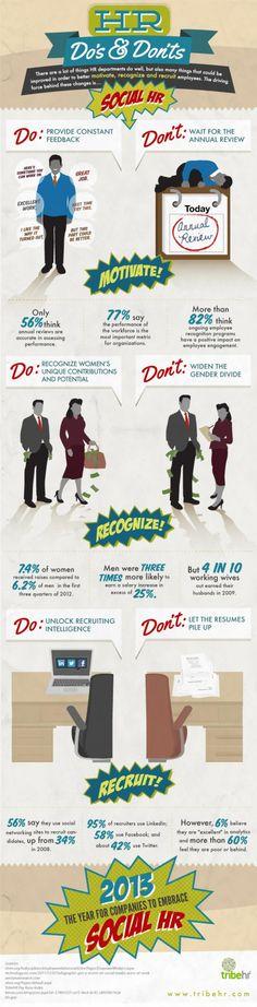 #HR Social Do's & Don'ts #infographic