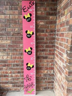 Personalized+Minnie+Mouse+Growth+Chart+by+TaloolahBelle+on+Etsy,+$50.00