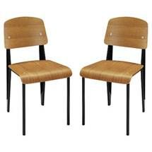 Cabin Dining Side Chair Set of 2 1262-WAL by LexMod