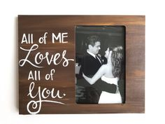 Love Picture Frame. Gift for him. Picture frame for wife