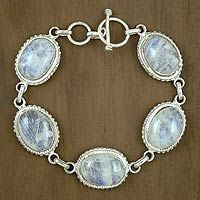 moonstone link bracelet from India $187.95