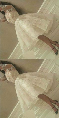 Short Prom Dresses, White Homecoming Dresses,Prom Dresses For Teens