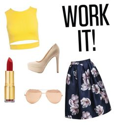 """""""Work It"""" by schlabach-shelly ❤ liked on Polyvore featuring Sans Souci, Qupid, Isaac Mizrahi and Linda Farrow"""