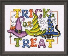 Trick or Treat Counted Cross Stitch Pattern