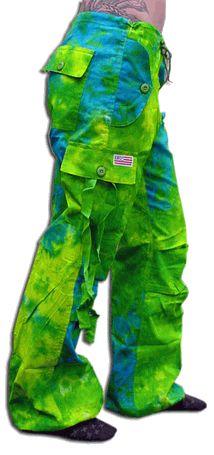 """Girls """"Hipster"""" UFO Pants (Green / Blue Tie Dye)"""