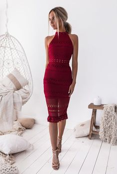 Two Sisters the Label Rivers Midi Lace Dress Red Lace Midi Dress, White Dress, Bodycon Dress, Dress Red, Swag Dress, Midi Dresses, Prom Dresses, Sisters The Label, Frack