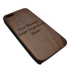 Personalised wooden iphone cover £13.00
