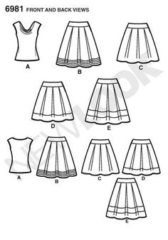 New Look 6981 from New Look patterns is a Misses' Knit Top and Skirts sewing pattern A Line Skirt Pattern, New Look Patterns, Skirt Patterns Sewing, Cowl Neck Top, Sewing Clothes, A Line Skirts, Dress Making, Making Ideas, Knitting