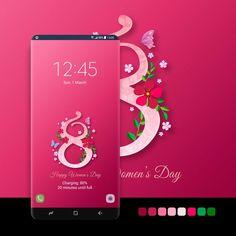 #android, #phone, #smartphone, #samsung, #galaxy, #samsunggalaxy, #samsungthemestore, #samsunggalaxyedge, #store, #galaxyapps, #s7, #s8, #s9, #edge, #design, #app, #themestore, #screen, #march8th, #internationalwomensday, #flowers, #amaranth, #pinkred, #floral, #darkpink, #daisy, #springflowers, #holiday, #8марта Samsung Galaxy Wallpaper, Amazing Watches, Samsung Device, Happy Women, Ladies Day, Android Apps, Spring Flowers, Daisy, Smartphone