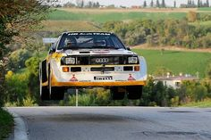 Audi Sport Quattro Rallye... they were built to fly back then!