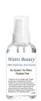 Watts Beauty 100% Pure Hyaluronic Acid Solution, Paraben & Alcohol Free / Multi-use - 60ml by Watts Beauty, http://www.amazon.com/dp/B005XP4YNQ/ref=cm_sw_r_pi_dp_j6gyqb1WC5NPF