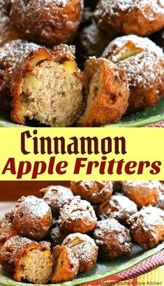 Cinnamon Apple Fritters #apple #fritters #dessert #dessertrecipes #apples #sweet #recipe