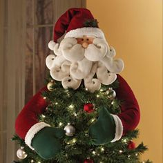 tree topper wish i had this santa claus christmas