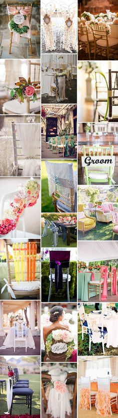 22 seating decor ideas via style unveiled http://styleunveiled.com/reception-and-ceremony-seating-decor-ideas/ #wedding #seatingdecor