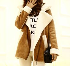 Casual Style Long Sleeves Tailored Collar Color Block Coat For Women (COFFEE,ONE SIZE) | Sammydress.com