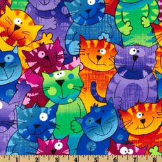 44'' Wide Timeless Treasures Cats & Dogs Happy Cats Multi Fabric By The Yard by Timeless Treasures, http://www.amazon.com/dp/B0088QY3LA/ref=cm_sw_r_pi_dp_LHVqsb1C3X58A