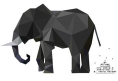 A low polygon designed elephant vector illustration for you.