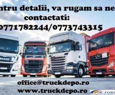 Comercializam piese din dezmembrari pentru orice tip de camion, din stoc sau pe comanda.Piesele au garantie si se pot livra oriunde in tara (24/48h). De asemenea, comercializam o gama larga de consumabile si piese noi. 1. MAN- TGX, TGS, TGA, TGL, LE, Silent 2. DAF- XF105, XF95, CF85, LF55, LF45 3. Mercedes- Actros MP1/MP2/MP3, Axor, Atego 1/2/3 4. Scania- HPI, XPI, DXI 5. Volvo- FH12, FH13 6. Renault-Premium, Magnum, Midlum 7. Iveco-Eurocargo, Cursor, Stralis