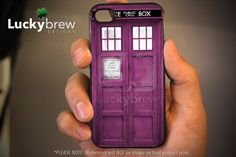 iPhone 4 4s Hard Case  Pink Tardis Dr Who  by LuckybrewDesigns, $15.88