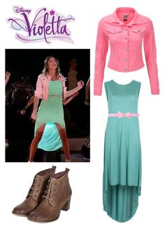 """""""Violetta show"""" by kaulitzstina ❤ liked on Polyvore featuring Disney, VILA, Ted Baker and Superdry"""