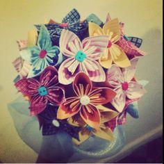 Buquê para Daminha flores de papel