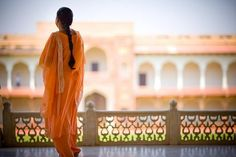 Woman at the Red Fort Complex - India