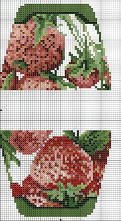 Strawberries. No color chart. сумочка игольница вышивка крестом