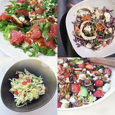 KAIKKI ELÄMÄNI SALAATIT: 36 OHJETTA | Syötävän hyvä Halloumi, Tofu, Cobb Salad, Feta, Salads, Recipes, Ripped Recipes, Salad