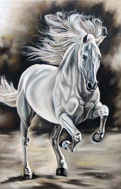 Horse Painting - Hereje by Ilse Kleyn