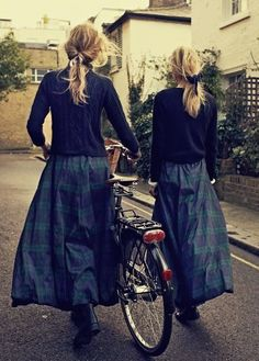 Black Watch Tartan Skirts ~ Cabbages and Roses. Modest vintage casual outfit