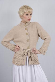 Alpaca Wool Ethical Geometry Cardigan