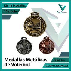 Entregamos sus Medallas en Medellin a Domicilio o Despachamos a Todo el Pais. Ref. M71K45ENV-MET Ø 6cms. Su Cotización en 20 Min. Sin Compromiso Kit, 20 Min, Michael Kors Watch, Pocket Watch, Metal, Cali, Accessories, Licence Plates, Volleyball