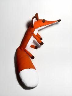 Fox stuffed animal Fox plush  Fabric toys Fox by HandmadeToyStore
