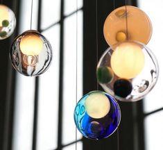 lámparas vidrio soplado