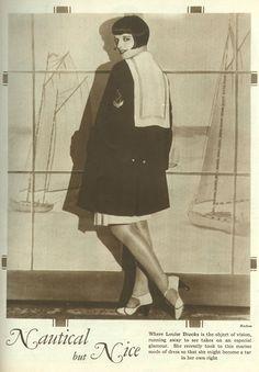 Louise Brooks sporting a Nautical but Nice ensemble. #vintage #1920s #fashion