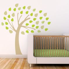 Kids Wall Decal. Windy Tree Children Wall Decal