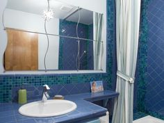 Explore your options for ceramic tile bathroom countertops, plus browse inspiring bathroom countertop pictures from HGTV.com.