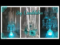 DIY COLLABORATION - DOLLAR TREE CANDELABRA USING THE BIB TECHNIQUE - YouTube