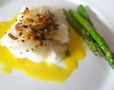 Indian Cod recipe. Coconut milk, curry and other yum in sauce.