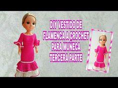 DIY VESTIDO A CROCHET PARA MUÑECA. TERCERA PARTE - YouTube Crochet Doll Pattern, Crochet Dolls, Crochet Clothes, Barbie And Ken, Barbie Dolls, Diy Vestido, Wellie Wishers, Lily, Dresses