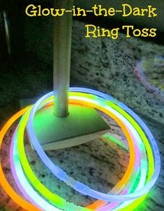 Play glow-in-the-dark ring toss this new year's eve:: pinning with purpose.New Year's Eve game New Years With Kids, Kids New Years Eve, New Years Eve Games, New Years Party, New Year's Eve Activities, Holiday Activities, Nye Party, Glow Party, Party Fun