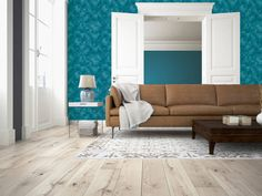 Tapet, colectia California by AS Creation Beautiful Songs, Lofts, California, Couch, Living Room, Turquoise, Wallpaper, Retro, Furniture