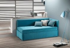 Divano letto Family Bedding modello Break - Outlet My Home Chair Bed, Sofa Bed, Couch, Family Bed, Casa Loft, Bedroom Themes, Decoration, Furniture, Fabric Beds