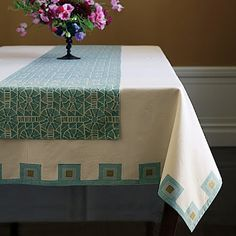 Everything Turquoise: Table Linens