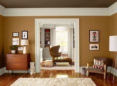 Orange Living Room Ideas - Warm Orange Living Room - Paint Color Schemes