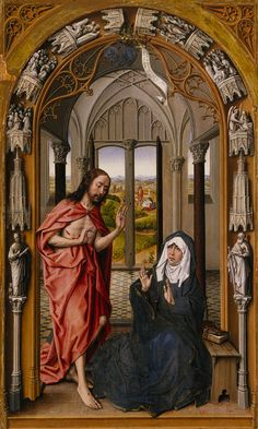 Juan de Flandes, Christ Appearing to His Mother, c. 1496