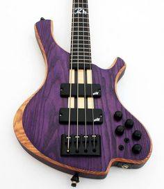o3 Guitars Rhodium Purplehaze #bass #bassguitar