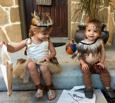Kids Native American Indian DIY Toddler Halloween Costume