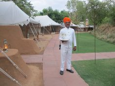 Butler service at Sher Bagh, Ranthambore National Park, North India