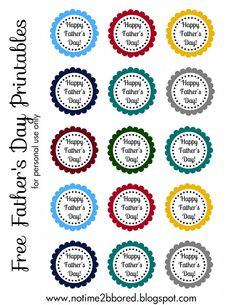 Free Father's Day Printable - Scallop Tags - bjl